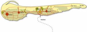 Vakantiehuis Ameland kaart